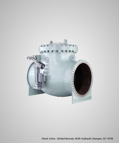 check-valve-bolted-bonnet-with-hydraulic-damper-32-150