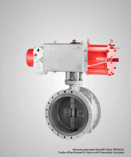 remote-operated-shutoff-valve-rosov-triple-offset-butterfly-valve-with-pneumatic-actuator